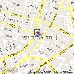 חדר בתל אביב חדרים לפי שעה מפה