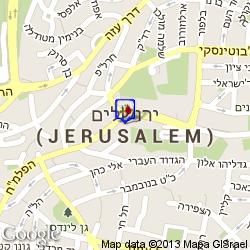 חדר בירושלים חדרים לפי שעה מפה